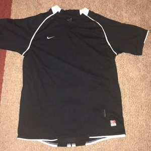 Nike 2000's Team training jersey- Black-Size Small